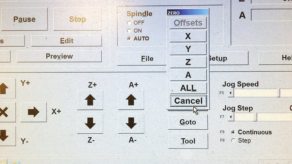 ZERO buttion means set the origin