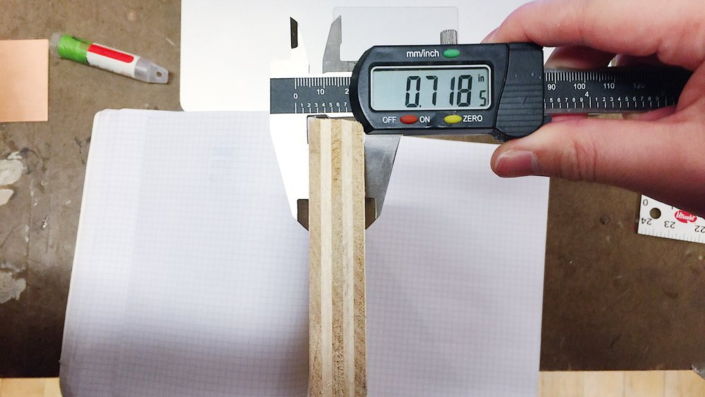 measure the plywood