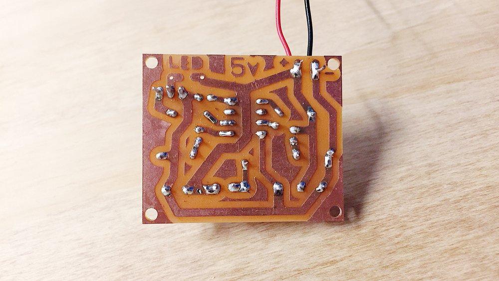 the sensor PCB board
