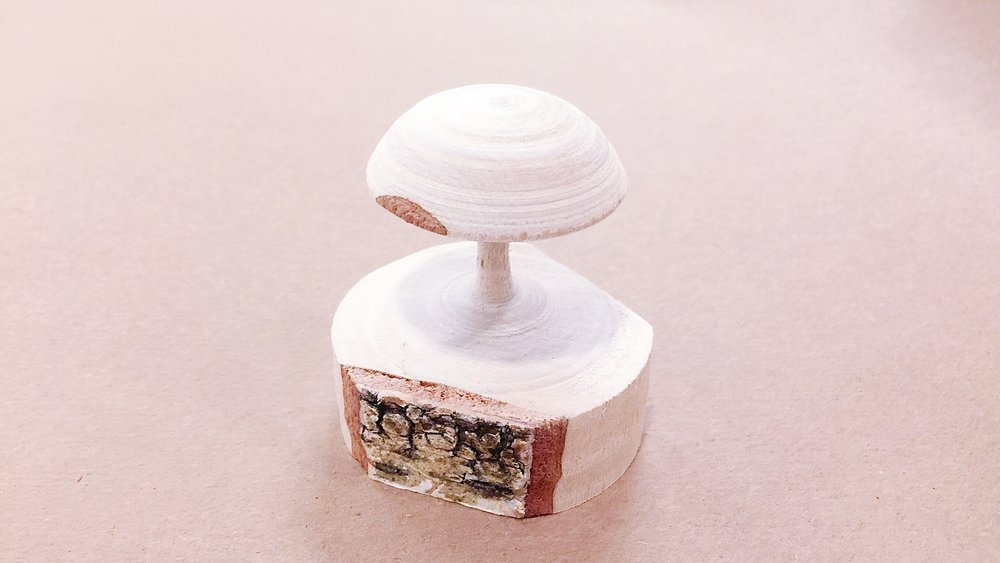 Another idea came to my mind, sanding it into a mushroom