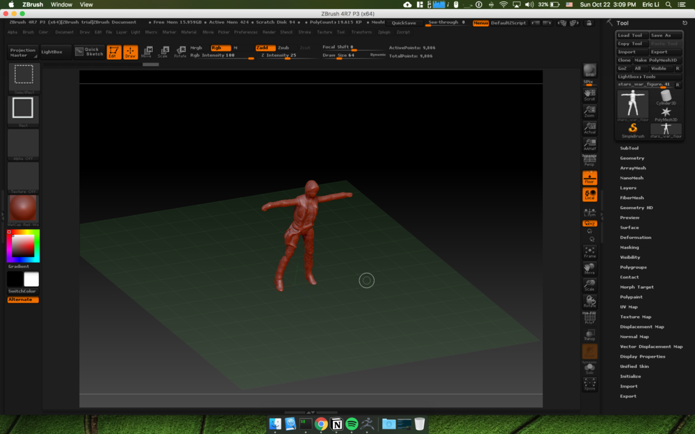 use scale and rotate tool to recenter and scale the avatar
