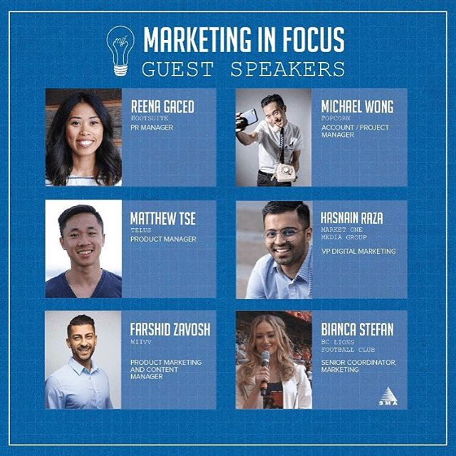 On November 4th, catch our co-host @hasnainr9 and other talented marketers at @sfusma's Marketing In Focus event! Get your tickets through the link in our bio.