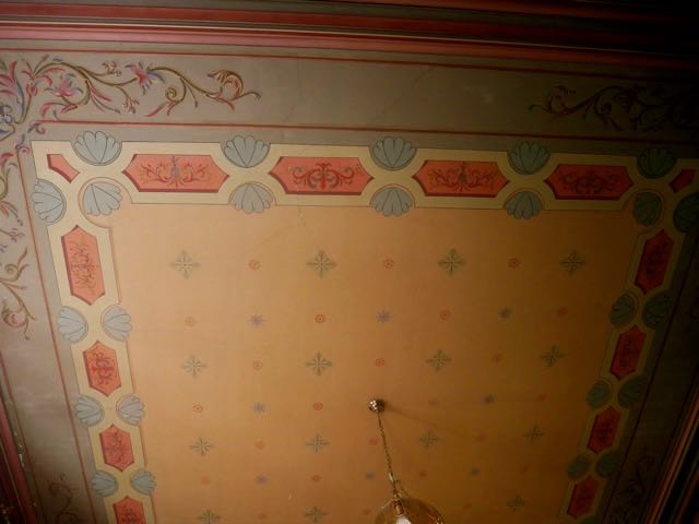Handpainted ceiling in master bedroom