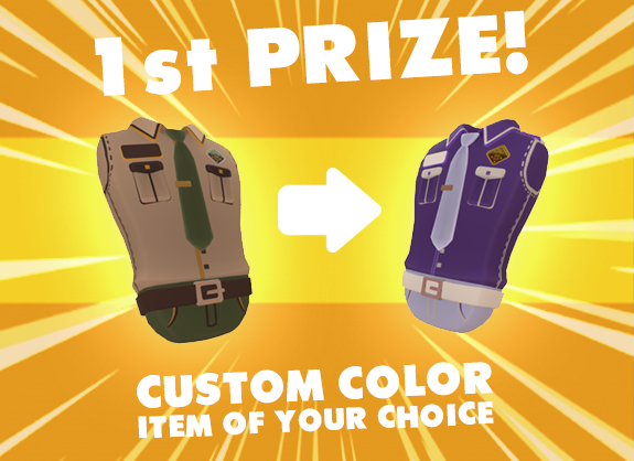 1st prize (1 winner) - Any store item of your choice with a custom color