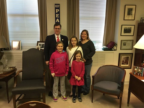 PICTURED: Battlefield Elementary School teacher, Jeanine Schenack and her daughters Lauren, Lindsey and Emily.