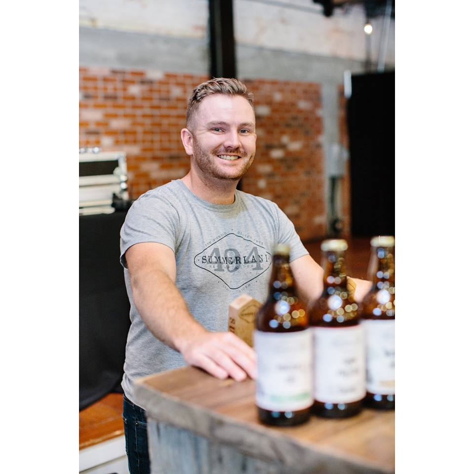 Ted happy to be pouring at last year's BC Bacon & Cider Festival