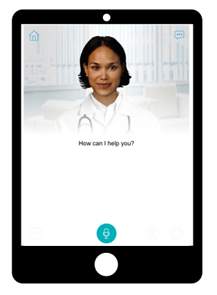 Sensely - Previously, I was VP of User Experience at Sensely, where their virtual nurse avatar helps patients with chronic health conditions.  Patients have a conversation with the avatar via speech or text, such as a daily check-in for people with congestive heart failure.