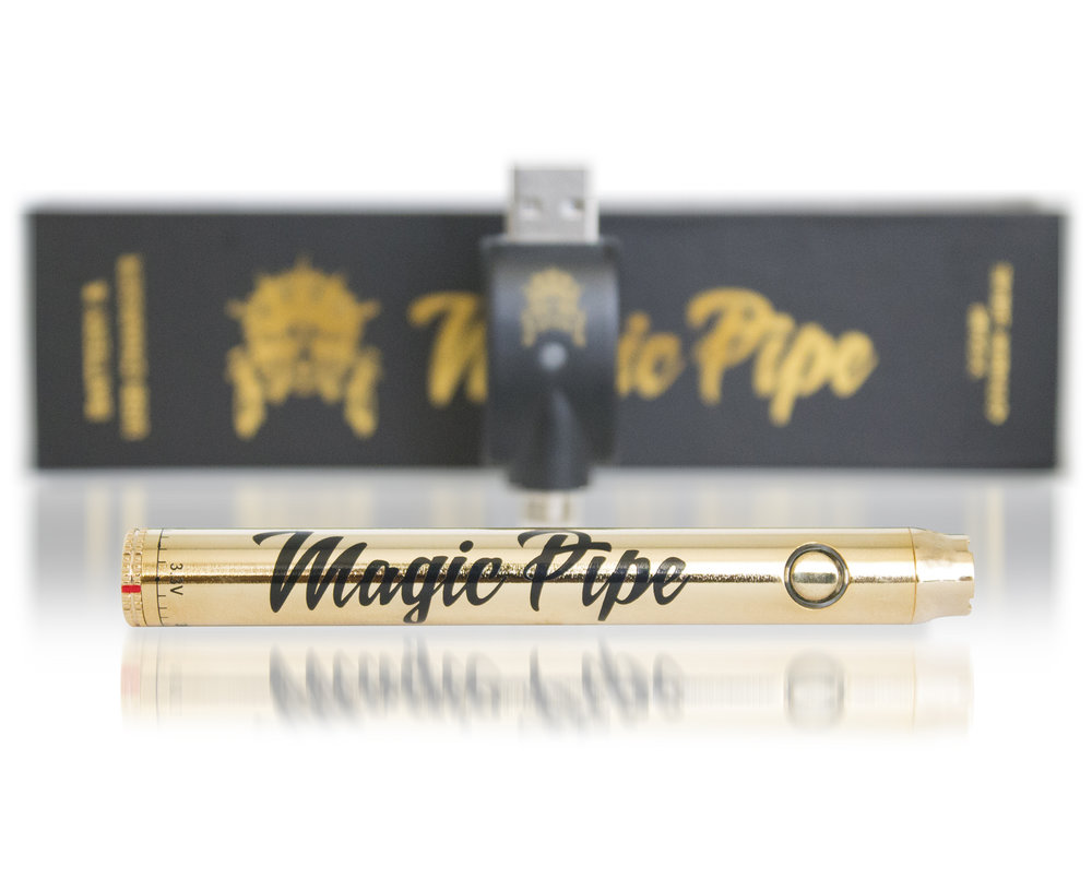 Variable Batteries - The push-button Variable Voltage Batteries are compatible with our 510 threaded vape cartridges. The dial at the base of the battery allows you to adjust the voltage to your liking. Each battery has a polished gold finish and includes a USB-charger.