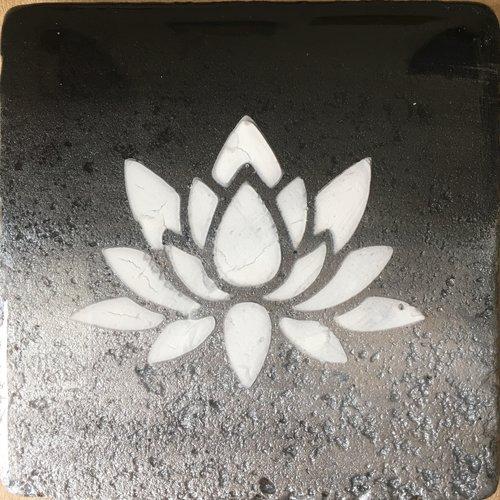 Black Silver Lotus Flower Calloway Studios