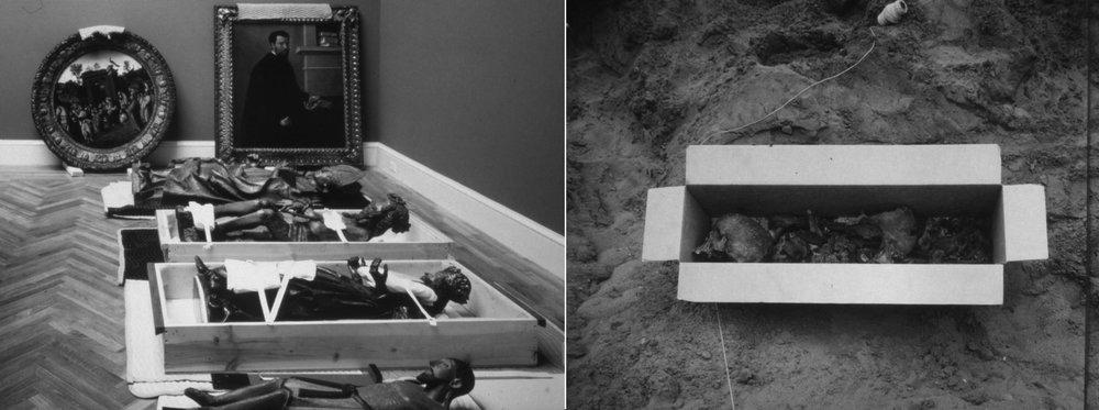 Que vous soyez statue ou squelette, la qualité du soin en sera différente. Photographies issues de la série  Still Rooms and Excavations , de  Richard Barnes  (reproduites ici avec l'aimable autorisation de l'artiste).