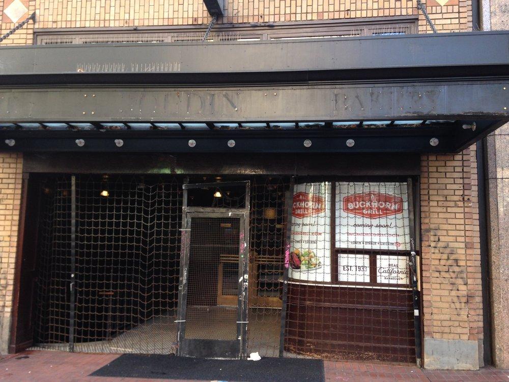La boulangerie Boudin, comme nombre de commerces de Market Street, a fermé ses portes