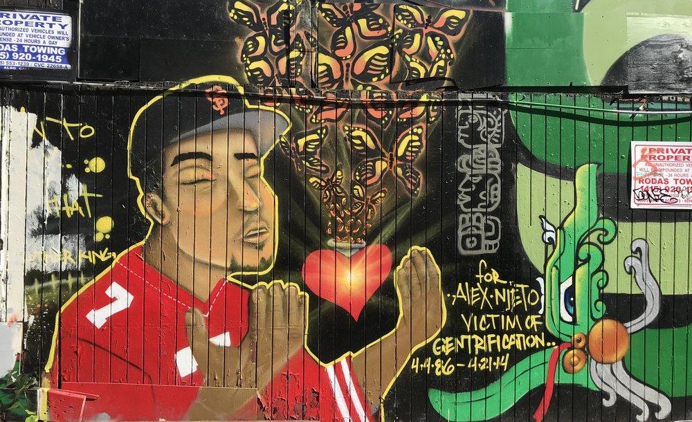 Fresque murale à Mission dédiée aux victimes d'expulsions.