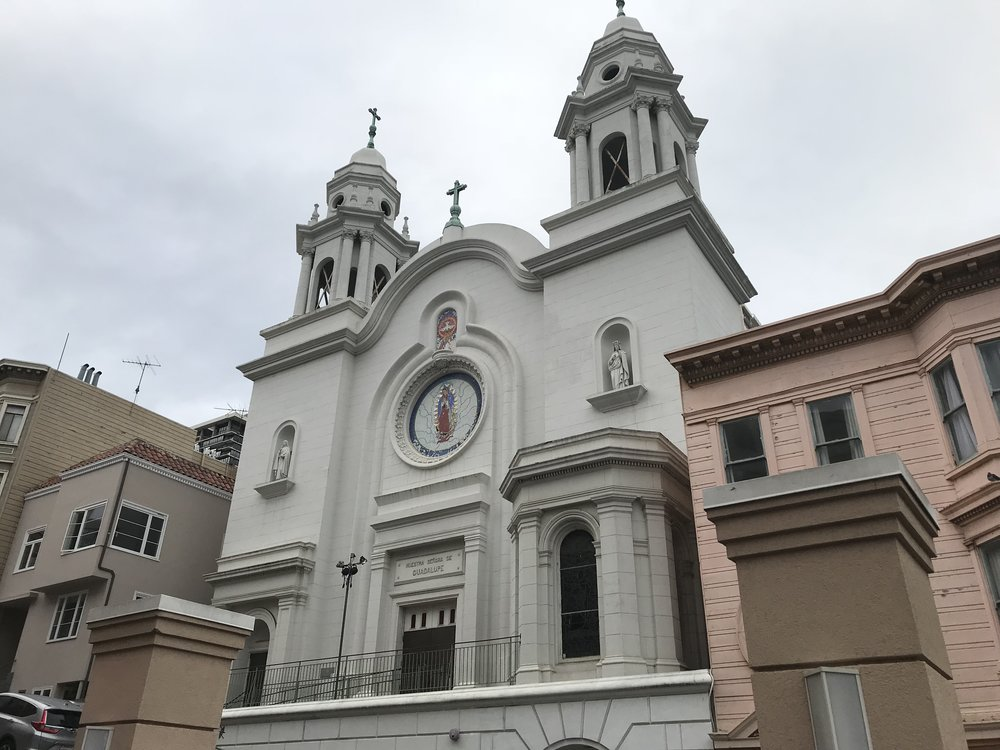 La vierge de Guadalupe veille toujours sur cette ex-église bâtie par la communauté mexicaine de San Francisco.