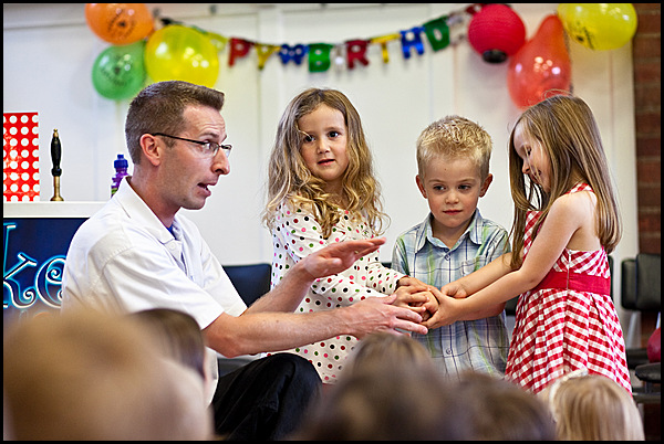 The Complete Party Package involves lots of help from the children - as well as LOTS of laughter!