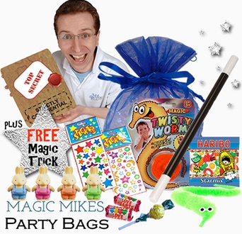My magic-themed party bags are fantastic - and included in the price of the 2-hr Complete Party Package!