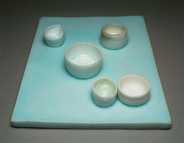 "<i>of a moon garden: december II</i>, porcelain, h. 2"" x w. 7"" d. 9"", 2006"