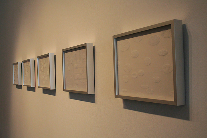 "<i>Elliptical Notes</i>, Vellum, h. 9"" x w. 12"" (single panel), 2007"