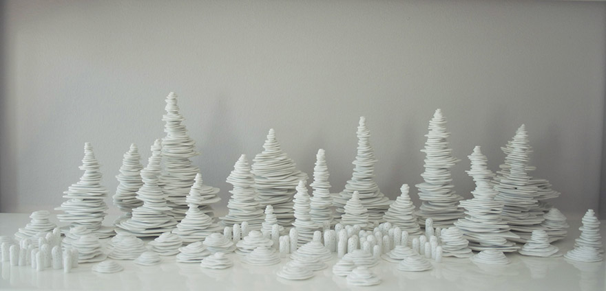 <i>Ceng Ceng Shan</i>, porcelain, size variable, 2013