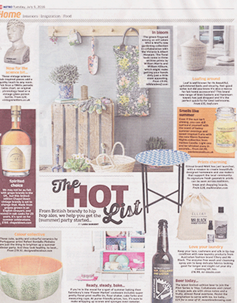 MAiK table feature in Metro's Hot List