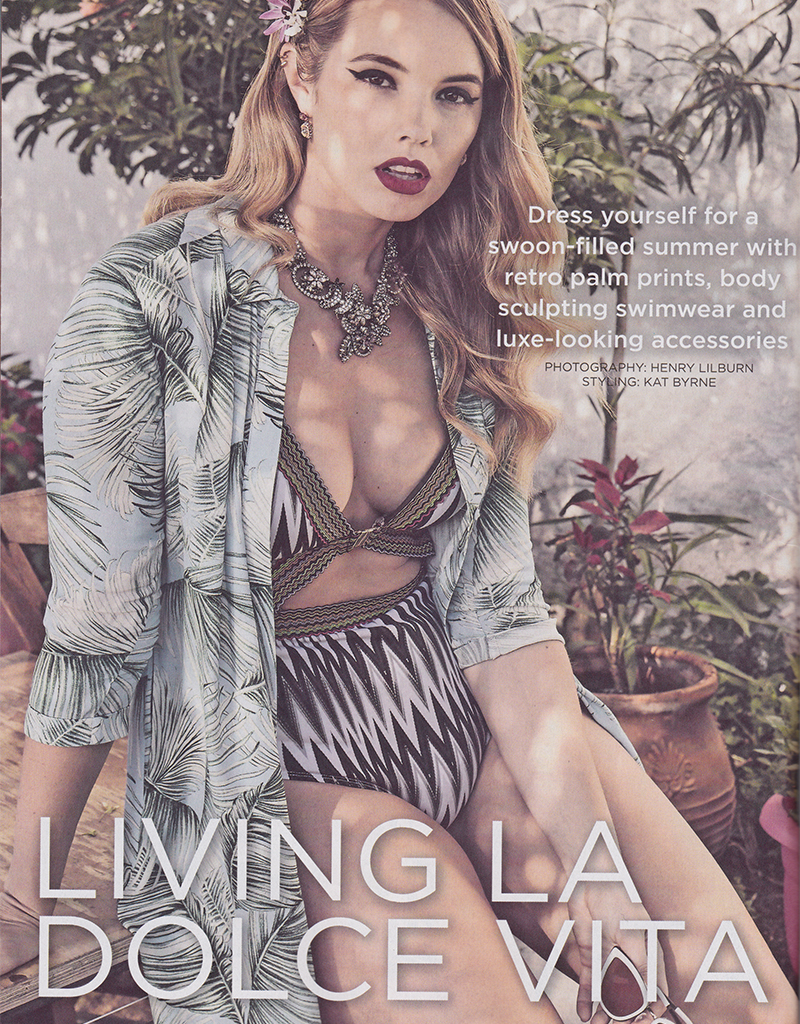 The Mix, sunglasses in Living La Dolce Vita editorial