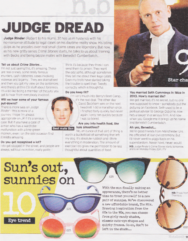 The Mix, top 10 sunglasses