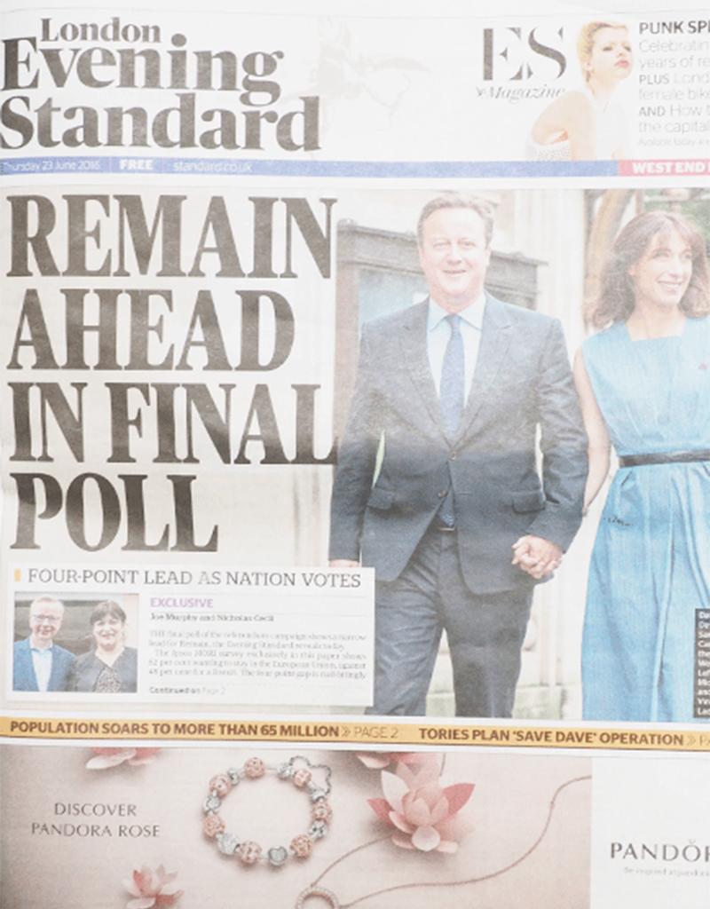 London Evening Standard, 23rd June 2016