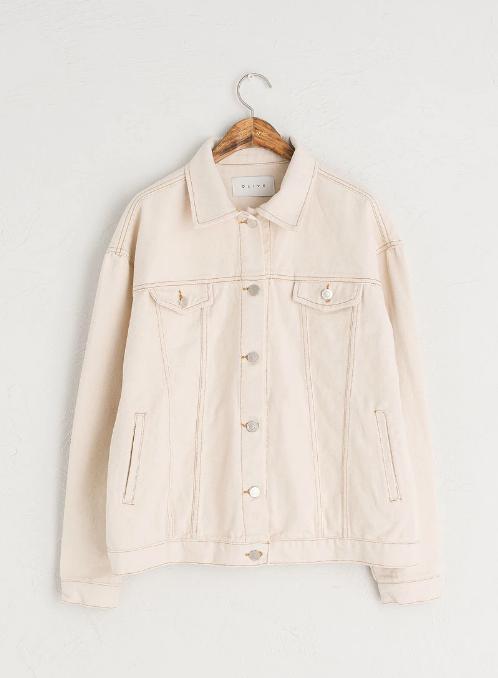 Ivory Denim Jacket - £79