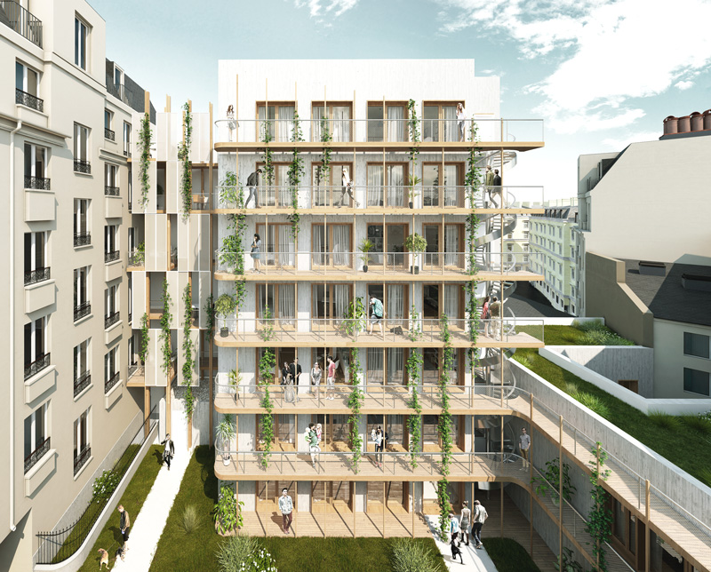 9 logements, Paris