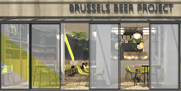 'Brussel beer project' - Etude pour la rénovation d'un restaurant Paris 9e oct.2018