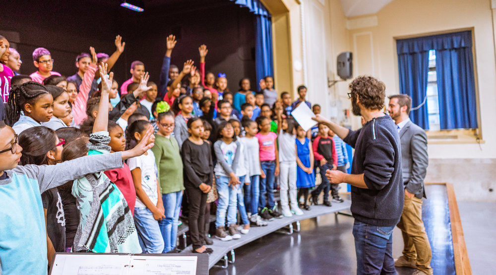 Students were eager to ask questions and learn from one of the most accomplished singers in the world.
