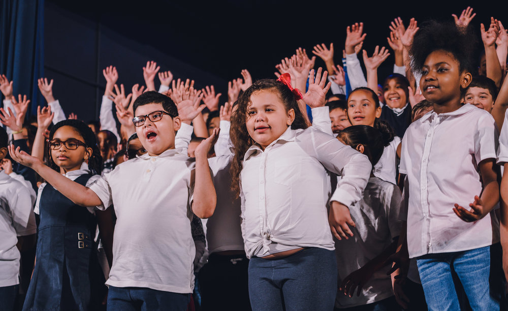 Third graders started the P.S. 91X Winter Concert with a bang!
