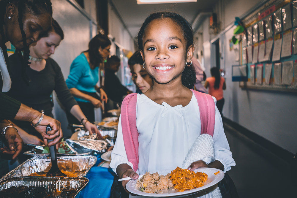 Students, parents, and staff shared delicious home-cooked foods.