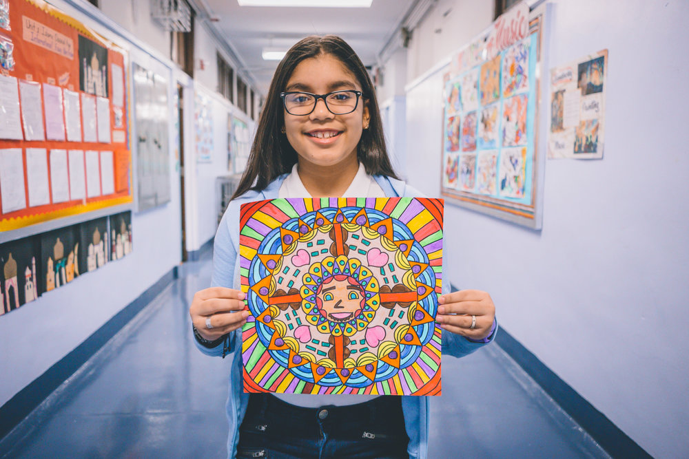 Hederlyn's  masterpiece is in the running to be displayed at the Bronx Borough Art Festival.