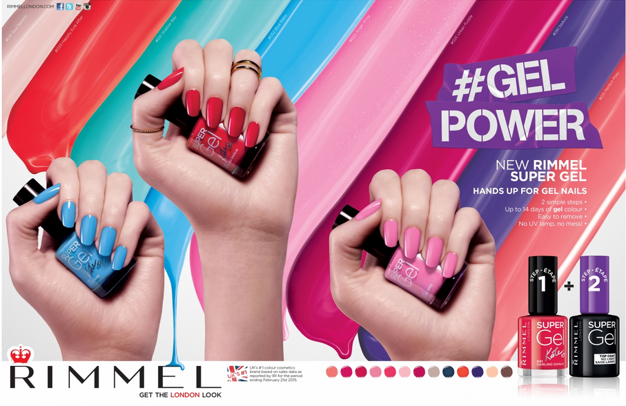RIMMEL  Agency - Southpaw Client - Coty, Inc. Art Director - Sophie Raubenheimer Art Buyer - Jennifer McQueen Photographer - Jonathan Knowles Nail Technician - Adam Slee Hand Model - Nina Taylor