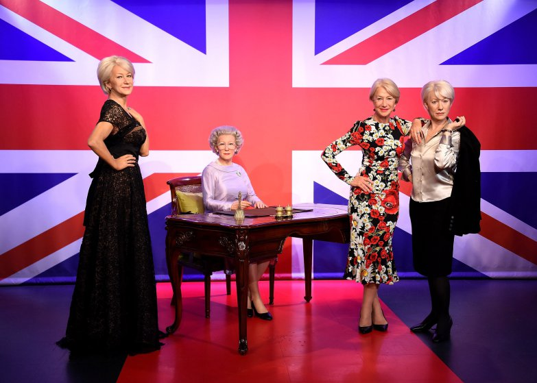 HELEN MIRREN  Madame Tussauds Wax Attractions Helen Mirren - The Queen - Jane Tennison. Principal Sculptor - Stephen Mansfield, Figure Photography - Mel Brown Copyright - Merlin Magic Making