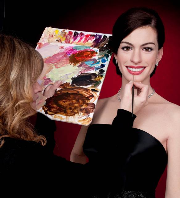 ANNE HATHAWAY  Madame Tussauds Principal Colourist - Lisa Partridge Figure Photography - Mel Brown Copyright - Merlin Magic Making