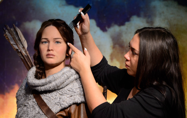 JENNIFER LAWRENCE as KATNIS EVERDEEN  Madame Tussauds London Photography - Mel Brown Copyright - Merlin Magic Making