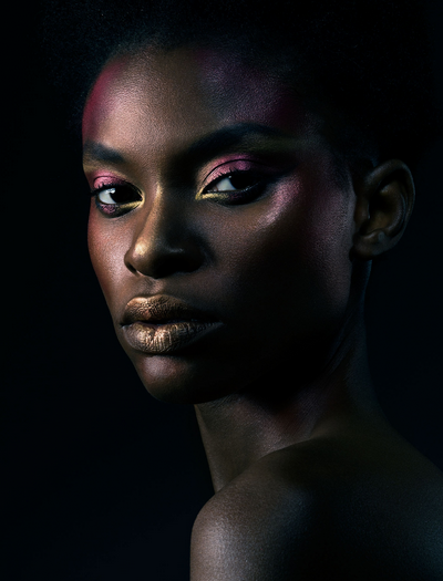 SHIMMER  Photographer - Jonathan Knowles Make-up – Laura hunt Pigment colours - Pat McGrath Retoucher - Gareth Pritchard Model – Barbara-Lee Grant at Storm