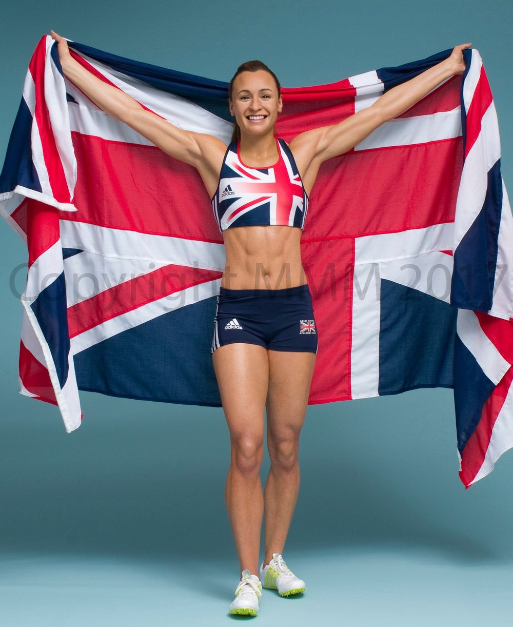 JESSICA ENNIS- HILL  Madame Tussauds London Figure Photography - Mel Brown Copyright - Merlin Magic Making