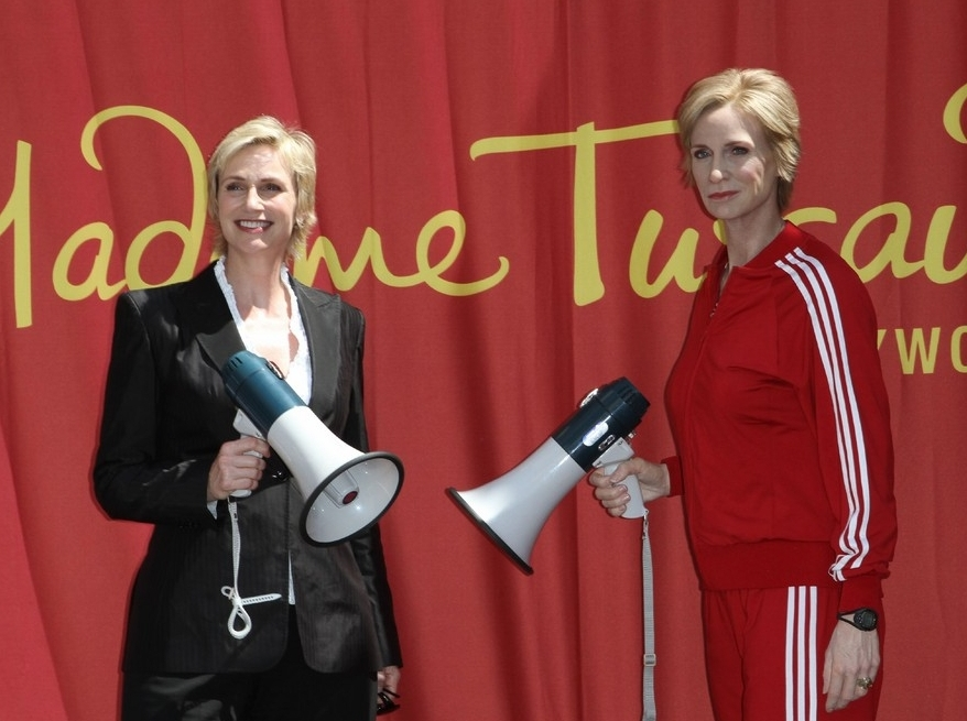 JANE LYNCH as SUE SYLVESTER  Madame Tussauds Hollywood Principal Sculptor - Dan Woodley Figure Photographer - Mel Brown Copyright - Merlin Magic Making
