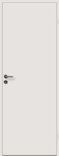 <b>Hvitmalt kompaktdør</b><br> med hvit karm
