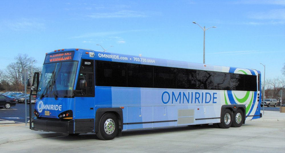 The revitalized OMNIRIDE bus design, following the rebranding efforts.
