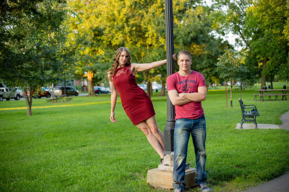 A summer evening Engagement session in German Village? Yes please!