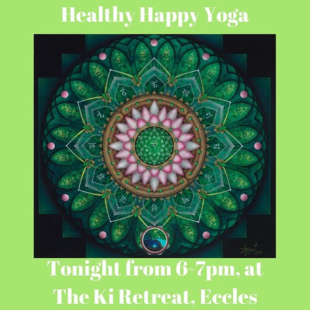 Join us tonight @the_ki_retreat - we are on week 4 of our Turn Of The Wheel event and tonight we are focussing on cleansing and activating the Anahata Chakra or heart chakra! There's going to be a lot of love in class tonight so join us for just £7! #hathayoga #chakras #relax #unwind #breathe #ibendsoidontbreak #motivationmonday #eccles #monton #salford #manchester #localyogaclass #localyogateacher