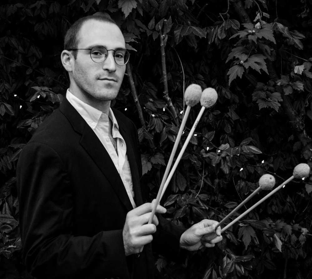 Jeff Stern, percussion      Percussionist Jeff Stern is emerging as an exciting new voice in today's contemporary music scene.  Recent highlights include the world premiere of James Wood's marimba solo,  Secret Dialogues , a performance at the Percussive Arts Society International Convention, and his debut in Carnegie's Weill Recital Hall with the Yale Percussion Group. Jeff currently serves as a founding member and one fourth of 2 piano/2 percussion group, icarus Quartet, championing the repertoire's staples as well as new works from great young composers of his generation. He has performed at major halls such as Lincoln Center and the Kennedy Center, and with ensembles including the Boston New Music Initiative and Baltimore's Sonar New Music Ensemble. Jeff has appeared at the Yellow Barn, Bang on a Can, Avaloch Farm, and Norfolk music festivals, and can be heard on Cantaloupe Records' release of Pulitzer prize-winning John Luther Adams' large-scale percussion work,  Inuksuit.   As an educator, Jeff is a frequent guest studio teacher at the University of Massachusetts, Amherst, where he assists resident lecturer in percussion, Ayano Kataoka. In 2012, he established a percussion department for the Baltimore Symphony Orchestra's youth program, OrchKids, and from 2013-2014, he served on the faculty of the Peabody Conservatory's Preparatory division as the director of their percussion program, a position he will step into once again in 2016.   Jeff holds degrees from UMass Amherst and the Peabody Conservatory, where he was awarded the Harold Randolph Prize in Performance. He recently earned an Artist Diploma at the Yale School of Music, where he studied with marimba virtuoso Robert van Sice.