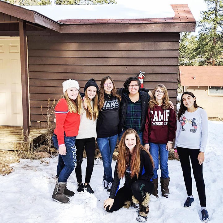 At Epic Youth Group winter retreat