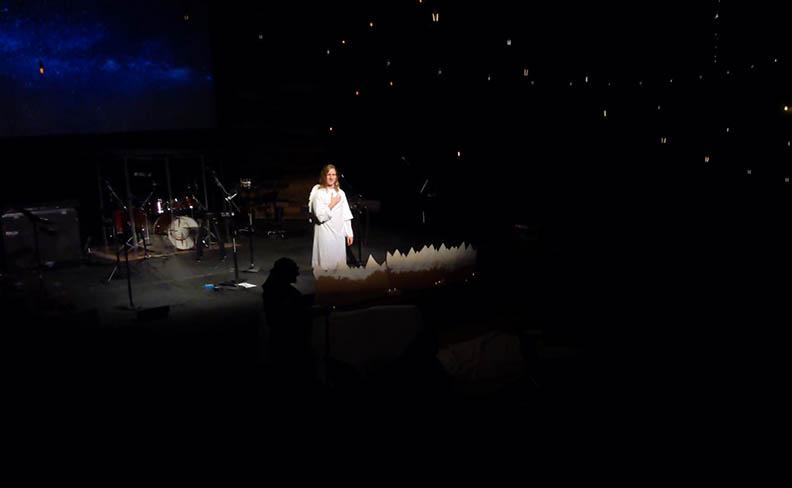 Angel representation at a Christmas service