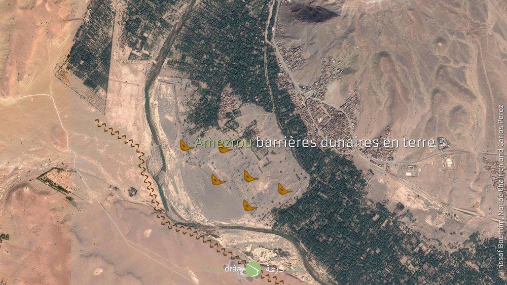 Ensuite, un dispositif composé par 6 bâtiments de logements créera une deuxième barrière avec l'objectif d'empêcher l'avancement des dunes.