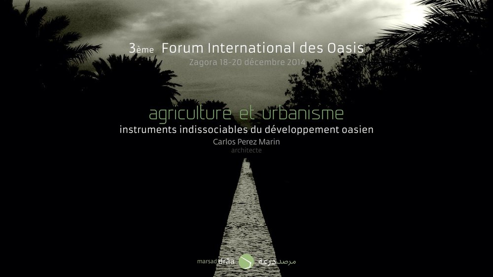 3e FORUM INTERNATIONAL DES OASIS, Zagora (Maroc) 2014