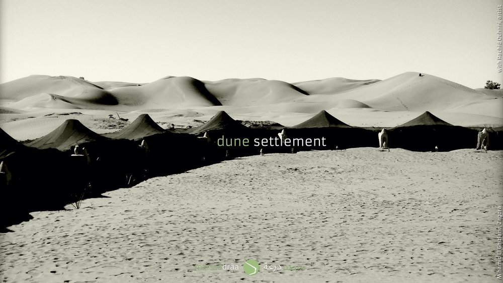 There are several issues we could work and think about. For example the LIMITS. They can form a physical space but also a phycological one, with multiple significations. Besides, this perception of the LIMITS may change during the day, during the night, during the sand storms... Sometimes the LIMITS are made by the nature (mobile dunes), sometimes are artificial (temporary settlement).